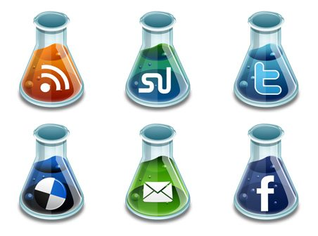 social networking icons for beakers