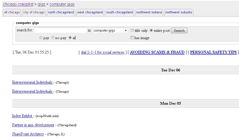 Craigslist Secret Code Gigs