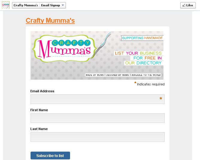 crafty mumma facebook campaign landing