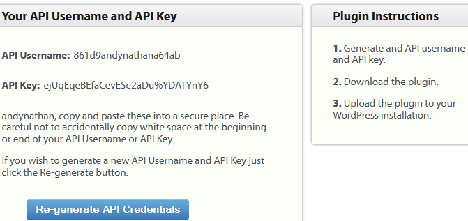 wordpress api key content runner