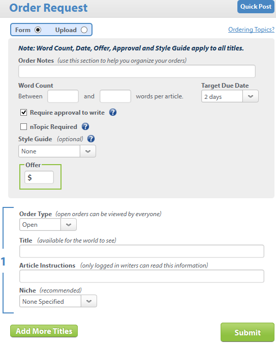 content runner order form