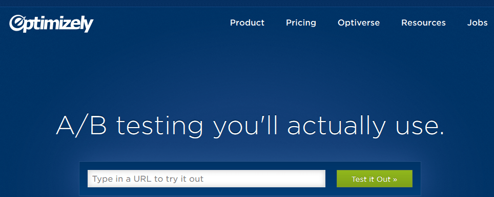 optimizely home page