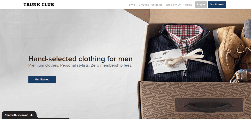 trunk club homepage