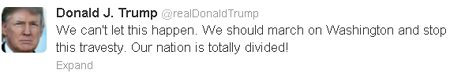 donald trump election tweet