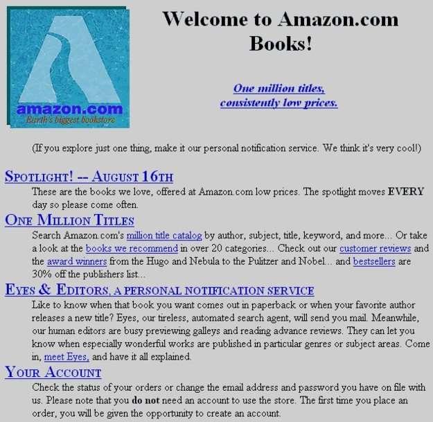first amazon website