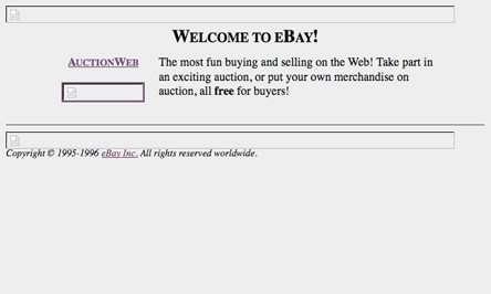 first ebay website