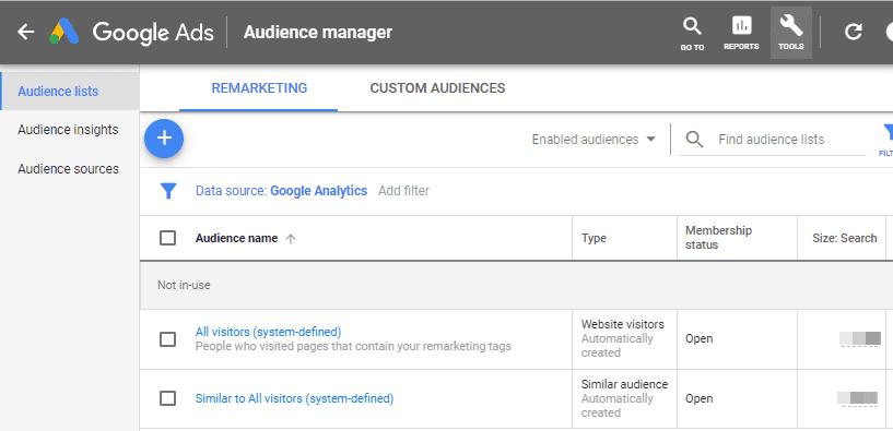 Google Remarketing Ad Lists