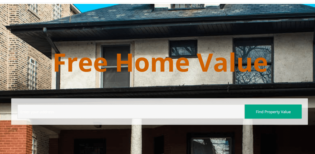 home value landing page example