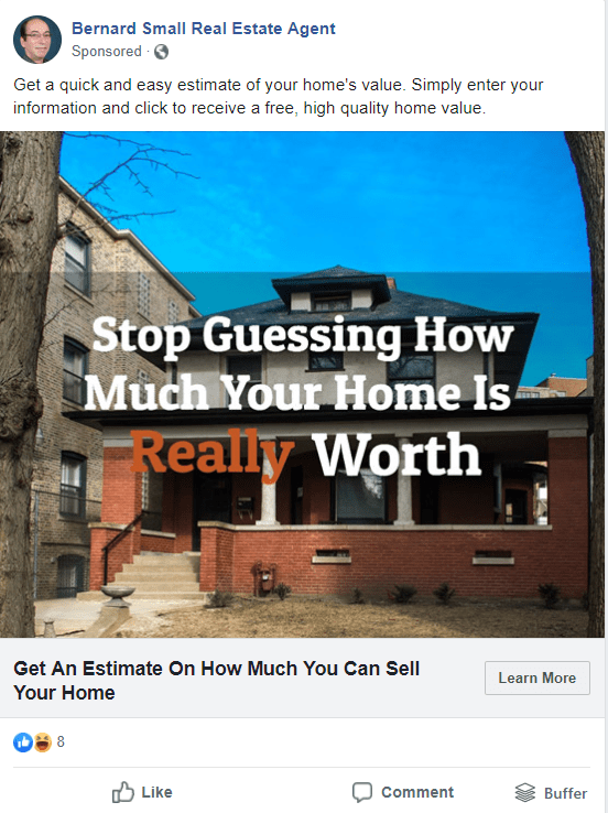 facebook ad home values