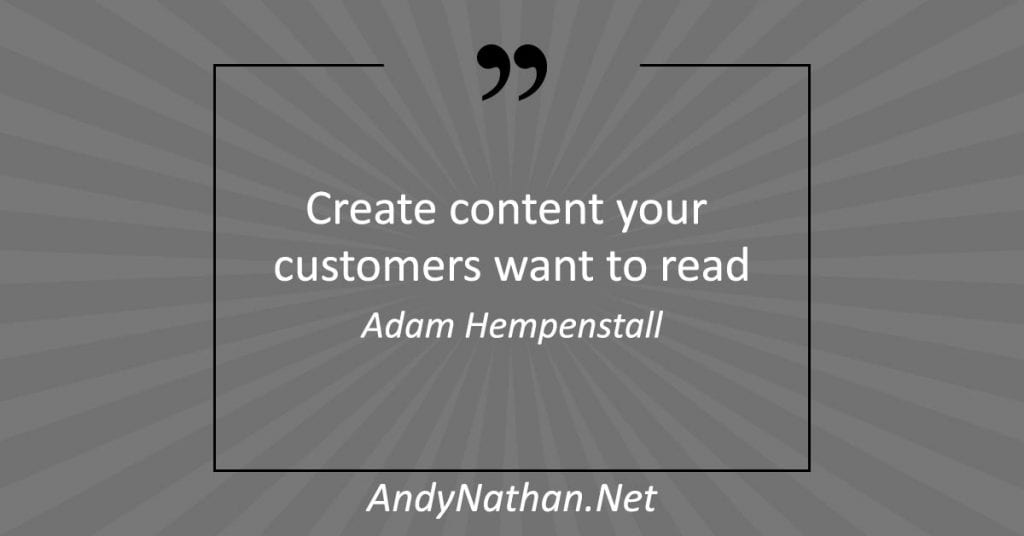 content marketing strategies: create content your customers want to read