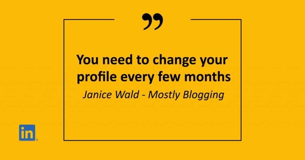 change your linkedin profile
