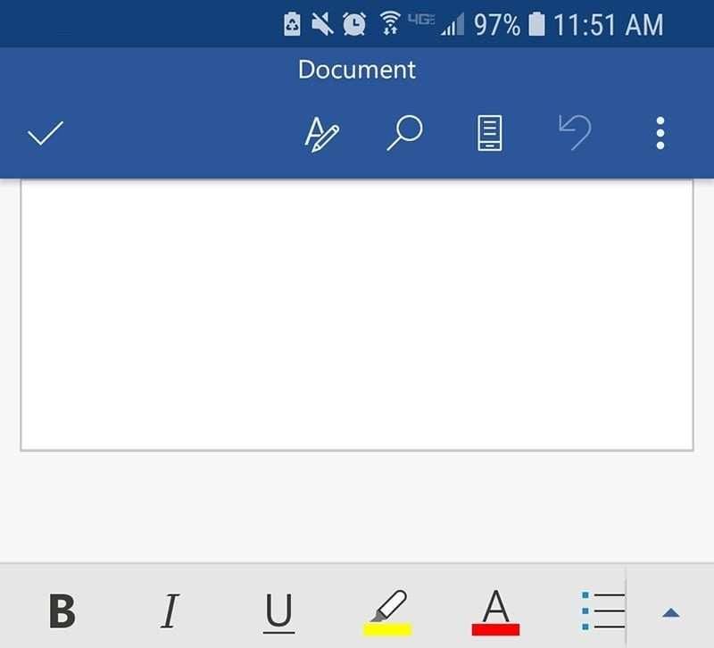 Microsoft Word Mobile